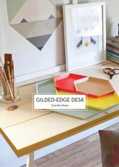 12 DECEMBER DIYS – Gilded-Edge Desk