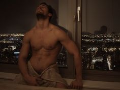 OMG!  This guy has got to be cast as Christian Grey. He is even in his Seattle penthouse!  His name is David Gandy. Dolce& Gabbana model. Wonder if he can act? #FiftyShades #FiftySource