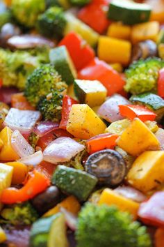 Roasted Vegetables - The easiest, simplest, and BEST way to roast vegetables - perfectly tender and packed with so much flavor!