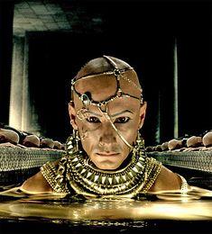 Xerxies 300 Movie, Film Movie, Movies, Kaleido Star, Ovid Metamorphoses, Rodrigo Santoro, Art Costume, Costumes, Black Goddess