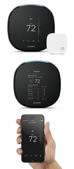 Comes with built-in Alexa Voice Service, so you can ask your ecobee to set a timer, read you the news, adjust the temperature, and more. #affiliate