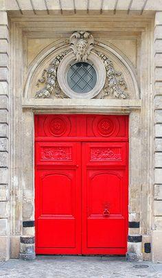 """""""Red Door"""", Paris, photo by p medved"""