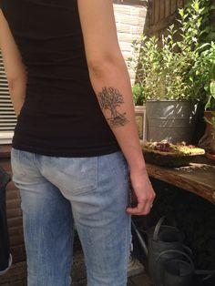 My tattoo, geometric tree, triangle