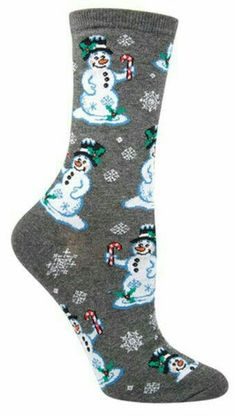 Hey there, Frosty! These crew socks have got the jolliest snowmen offering up some candy canes. Available in charcoal and red. Funky Socks, Crazy Socks, Cute Socks, Colorful Socks, Holiday Socks, Unique Socks, Only Shoes, Patterned Socks, Leggings
