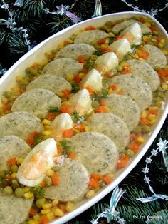 Stuffed fish in jelly Tasty Pyza - Kuchnia - Russian Xmas Food, Christmas Cooking, Whole Food Recipes, Cooking Recipes, Polish Recipes, Polish Food, Seafood Dishes, Food Design, Creative Food