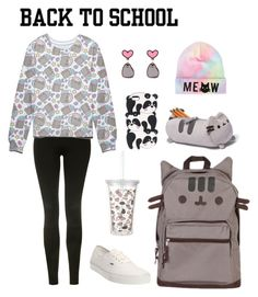 """""""#PVxPusheen"""" by anarainbow ❤ liked on Polyvore featuring Topshop, Pusheen, Vans, contestentry and PVxPusheen"""