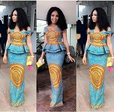 African women clothing/ African dress for prom/ African print for weddings/ African fashion outfit/A African Print Dresses, African Print Fashion, African Fashion Dresses, African Dress, African Prints, Africa Fashion, Ghanaian Fashion, African Outfits, Ankara Fashion