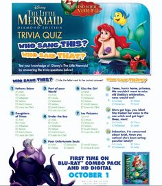 Free Little Mermaid Activity Sheets These are perfect for a family Fun night! #printables #disney #freeprintable