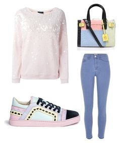 """""""Senza titolo #140"""" by bauletto on Polyvore featuring moda, River Island, Twin-Set, Sophia Webster, Kurt Geiger, women's clothing, women, female, woman e misses"""
