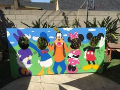 Mickey Mouse Clubhouse photo booth cut out.