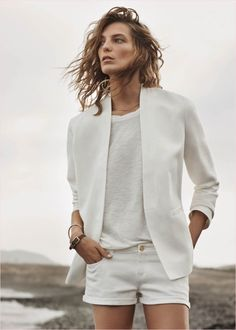 All white outfit by Daria Werbowy Daria Werbowy, Looks Street Style, Looks Style, Style Me, White Fashion, Look Fashion, Fashion Beauty, Curvy Fashion, Fall Fashion