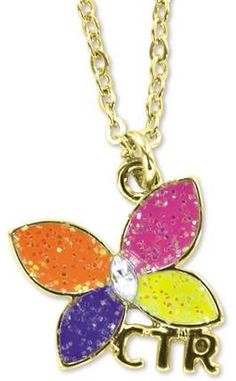 Ctr-sparkle-butterfly-necklace.  Gift idea for Activity Days girls.
