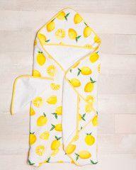 Hooded Towel Set - Lemon