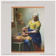 Het melkmeisje Textielposter