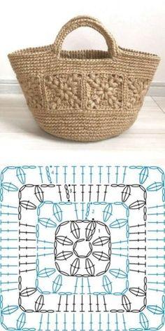 Choose and Copy: 18 Crochet Summer Bag and Knitting ProjectsKn Graphics . - Choose and Copy: 18 Crochet Summer Bags and Knitting Projects GraphicsKnitting FashionCrochet Hair - Crochet Motifs, Crochet Tote, Crochet Handbags, Crochet Purses, Crochet Gifts, Crochet Stitches, Free Crochet, Knit Crochet, Crochet Summer