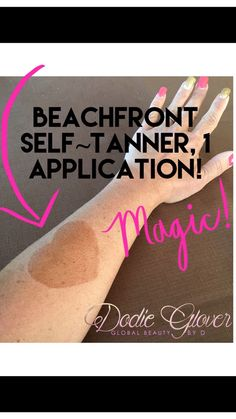 $39 Beachfront Self~Tanning lotion! Just 1 application, 1 day later. Smells fantastic, is a build able product, and will last about 1 week. Infused with emollient Shea Butter which is a superb moisturizer and a rich source of antioxidants! No streaking. Super easy to apply. No orange. Orders yours today at: www.globalbeautybyd.com  #Younique #Selftanner #Summer #Skin
