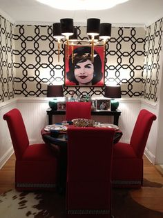Black White And Red Dining Room Ideas Thecreativescientist Com
