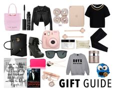 """""""Gift Guide"""" by the-fashion-web ❤ liked on Polyvore featuring NARS Cosmetics, Boutique Moschino, Linea Pelle, MICHAEL Michael Kors, COSTUME NATIONAL, Black Apple, Henri Bendel, H&M, Ray-Ban and Nails Inc."""