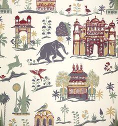Lasan Teak Wallpaper from John Robshaw Textiles Tie Dye Crafts, Kids Prints, Art Background, Alter, Pattern Design, Print Patterns, Colonial, Art Pieces, Miniatures