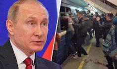 Vladimir Putin reacts to explosion in St Petersburg 04 April 2017
