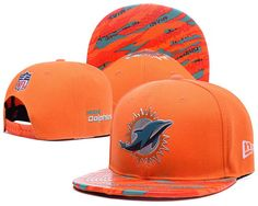 8ee96dafd5e Miami Dolphins 2016 NFL On Field Color Rush Snapback Hats Leather Brim