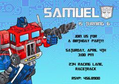 transformers party Baby Party, I Party, Party Ideas, 8th Birthday, Birthday Party Themes, Jeremiah 4, Transformers Birthday Parties, Transformer Birthday, Rescue Bots