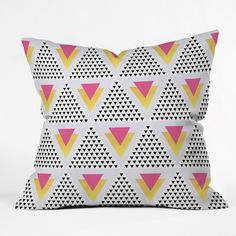 Elisabeth Fredriksson Triangles In Triangles Throw Pillow | DENY Designs Home Accessories #denydesigns #home #decor #homedecor #pillow #throwpillow #cushion