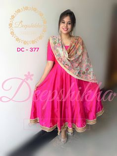 DC 377 For queries kindly whatsapp : 9059683293 Churidar Designs, Kurta Designs Women, Kurti Neck Designs, Dress Neck Designs, Kurti Designs Party Wear, Blouse Designs, Punjabi Dress, Lehnga Dress, Designer Anarkali Dresses