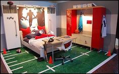 Stylish Soccer Themed Bedroom Design For Boys (5) - Decomagz