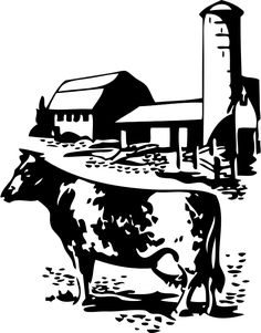 Barn Farm Cow Dairy Animal Animals Silhouette - Clipart Suggest Silhouette Clip Art, Animal Silhouette, Stencil Patterns, Stencil Art, Stencils, Aztec Drawing, Farmhouse Paintings, Laser Art, Black Barn