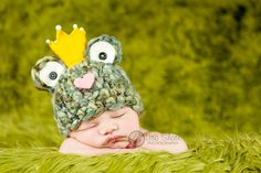 Frog Prince Hat  Baby Frog Hat Photo Prop  Frog Hat by bitOwhimsy, $38.00