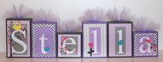 Stella Collection Personalized Blocks  Owls and Birds by slcshop, $8.00