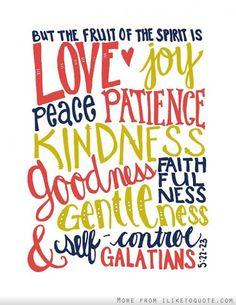 The fruit of the spirit #spiritual #quotes #love #hope #faith