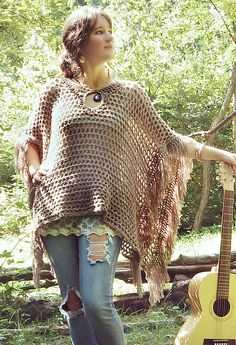 A versatile wrap that works up quickly using a 9.00 mm hook, the Freewheelin' Poncho features a keyhole collar and a thick fringe at the edges while the lightweight mesh fabric flows and drapes to show off the person underneath. Inspired by both retro and modern styles, this is a fashionable but easy level pattern for free spirits of all walks.