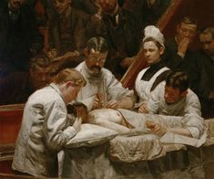 Thomas Eakins - The Agnew Clinic [1889], detail. Enlarge: http://www.pinterest.com/pin/287386019944790037/ Medical History