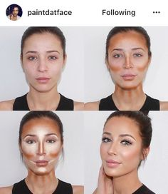 17 Ideas makeup tips contouring make up Beauty Make-up, Beauty Hacks, Hair Beauty, Beauty Tips, Natural Beauty, Natural Contour, Beauty Products, Natural Makeup, Beauty Secrets
