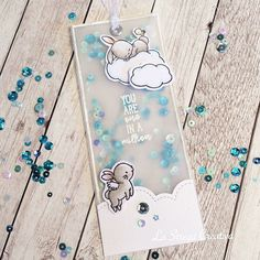 But how tender are the bunnies of Mama Elephant . Creative Bookmarks, Diy Bookmarks, Bookmark Craft, Mama Elephant Stamps, Karten Diy, Book Markers, Shaker Cards, Planner, Card Maker