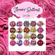 Flower buttons by ZaraTreasures on Etsy