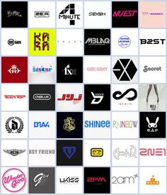 K Pop logos Shinee, Super Junior, Kpop Logos, Kpop Diy, Cn Blue, All About Kpop, Pop Rock, K Pop Star, Sistar