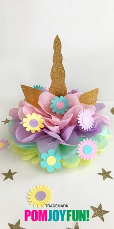 Unicorns are so in! This one is perfect for a centerpiece or on top of a cake. Buy this unipom from Pomjoyfun2.com
