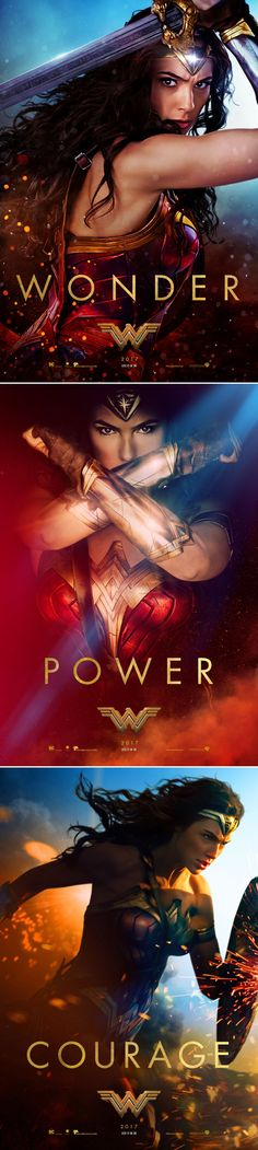 New promotional posters for Wonder Woman (2017)