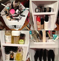 Qvc Makeup Organizer Beauteous Multipurpose 3Tier Adjustable Spinning Organizer  Qvc  Pinterest Design Inspiration