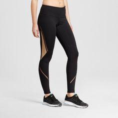 Women's Embrace Mesh Leggings - C9 Champion Black/Khaki (Black/Green) XL