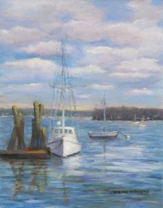 "Corinne McIntyre, ""An August Day in Boothbay."" http://www.boothbayregister.com/article/ocean-point-studio-tour-and-open-house-july-6/683"