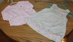 Carter's Infant Girls  2 outfits size 6 months and 9 months
