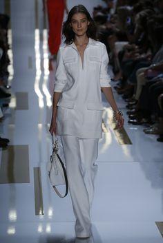 Classic al-white chic. Diane von Furstenberg RTW Spring 2014 #nyfw