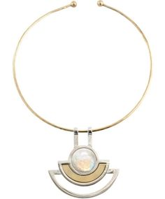 #pamelalove Diosa Collection - Silver & Brass Sunset Choker