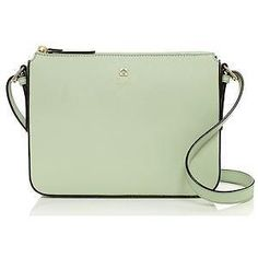 NEW Kate Spade Leather purse crossbody small shoulder handbag light green