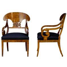 Pair of Biedemeier Armchairs, c. 1800s Sweden