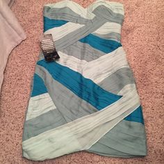 Bebe ruched cocktail dress NWT Brand new! bebe Dresses Strapless